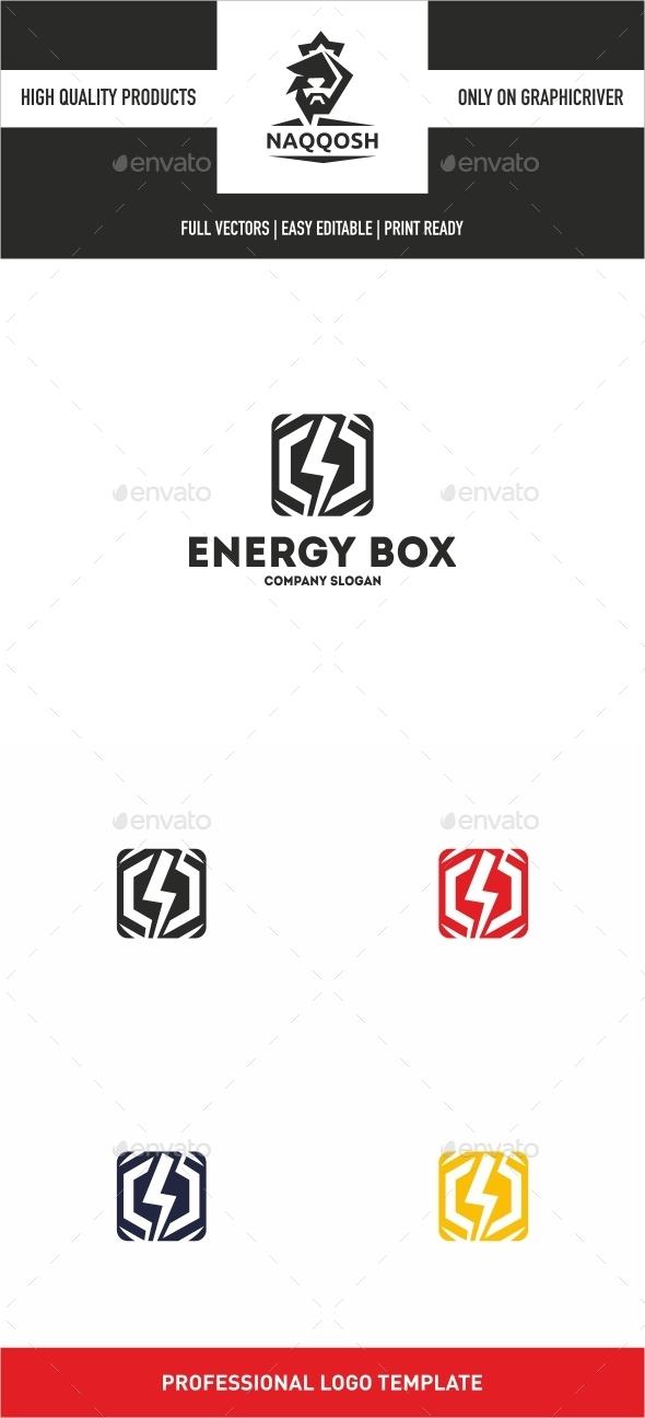 Energy Box - Symbols Logo Templates