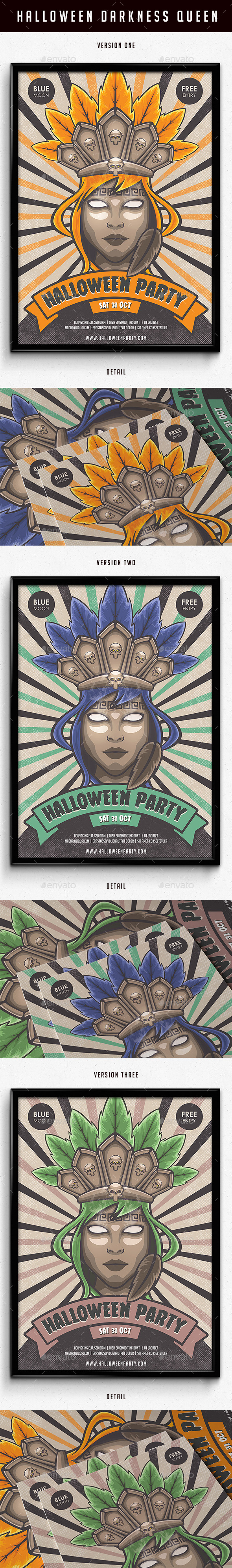 Halloween Darkness Queen Poster  - Events Flyers