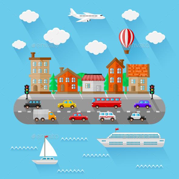 City Landscape - Travel Conceptual