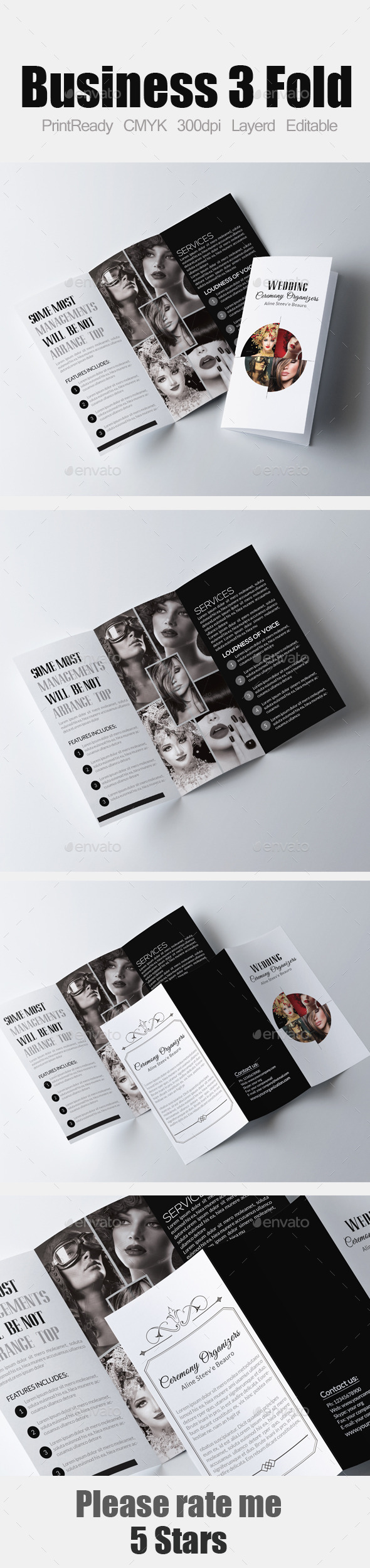 Photography Tri Fold Business Brochure - Corporate Brochures