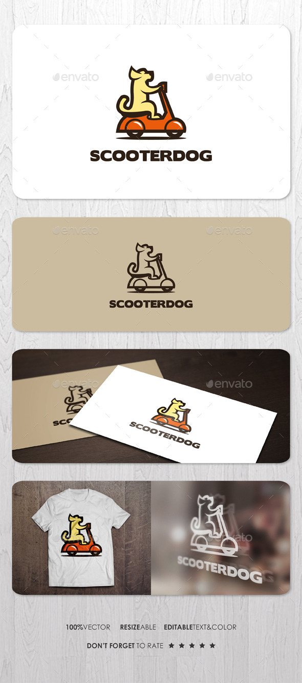 Scooter Dog Logo