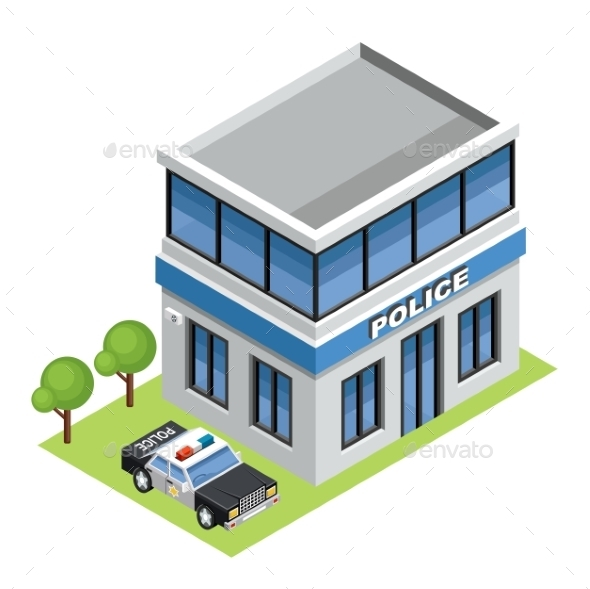 Isometric Police - Buildings Objects