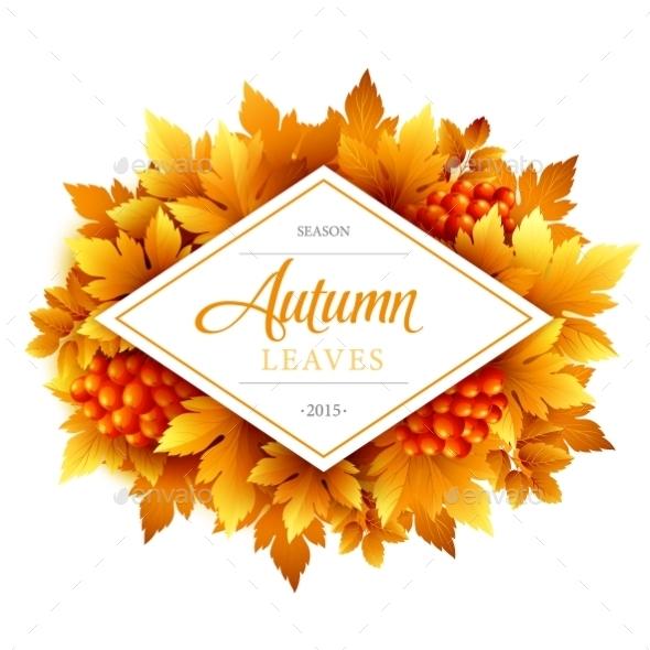 Autumn Typographic Illustration - Seasons Nature