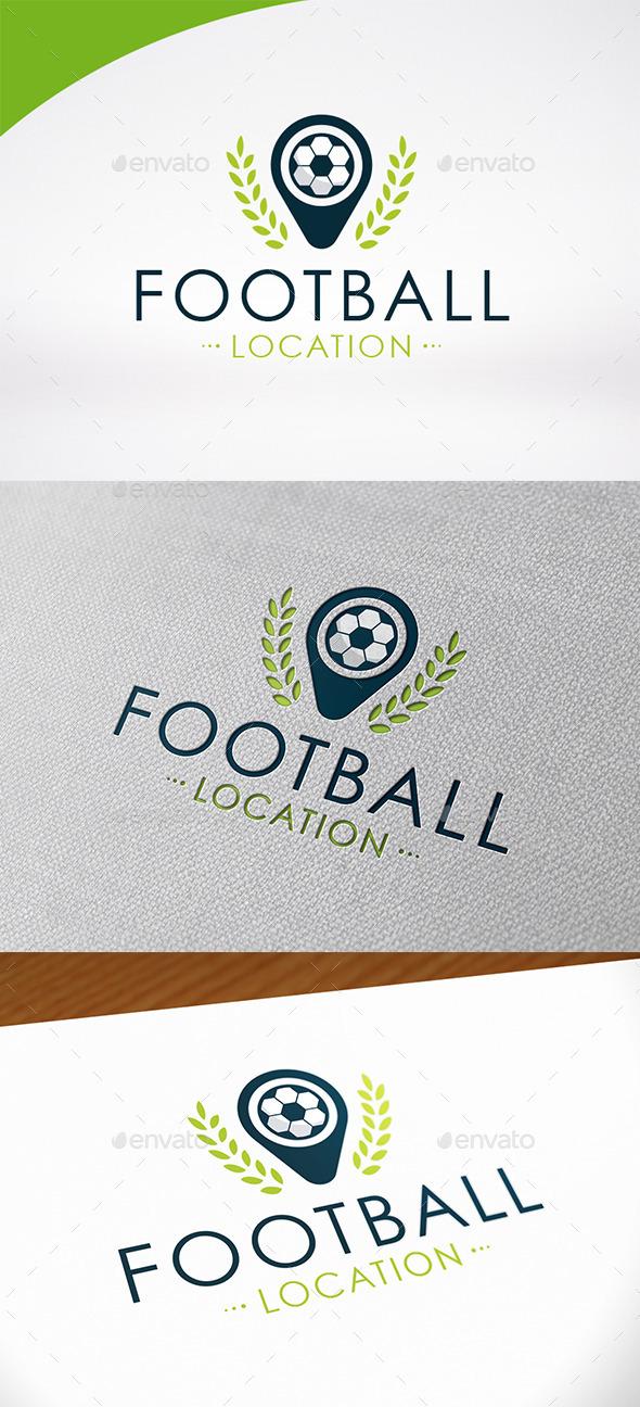 Football Locate Logo Template - Symbols Logo Templates