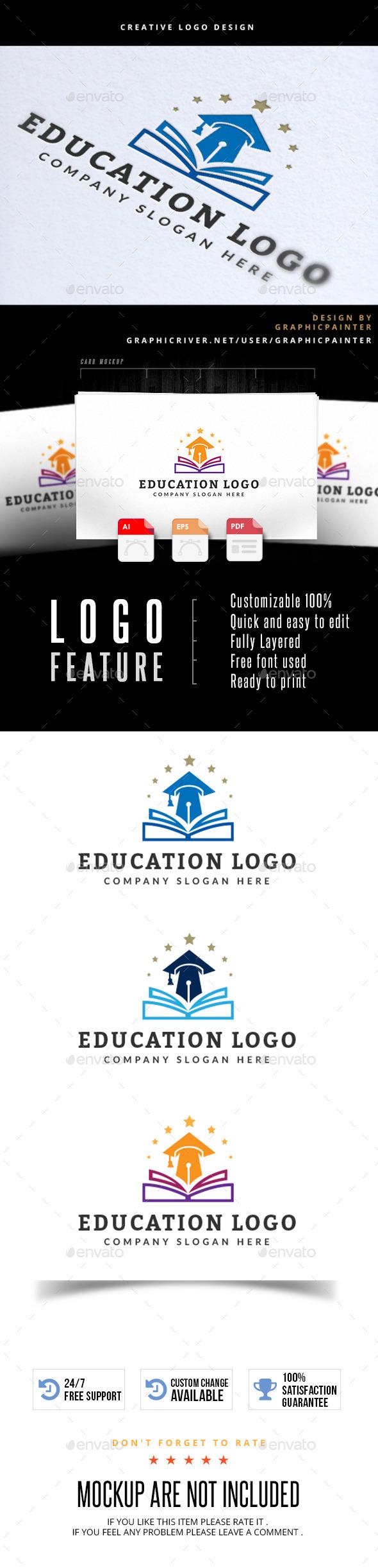 Education Logo - Buildings Logo Templates