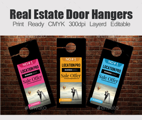 Corporate Door Hangers Template - Miscellaneous Print Templates