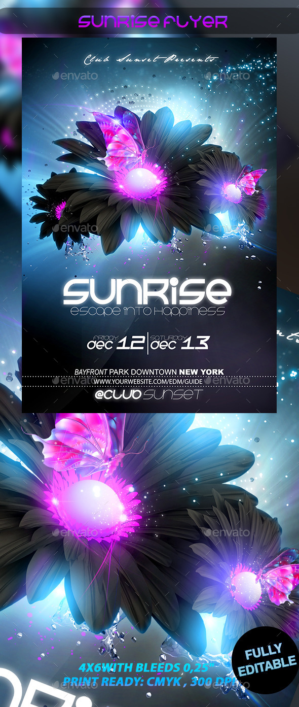 Sunrise Flyer - Events Flyers