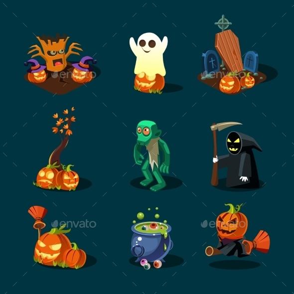Halloween Symbols Collection. - Halloween Seasons/Holidays