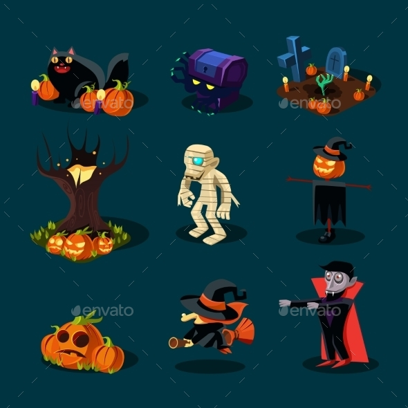 Halloween Symbols Collection. - Halloween Seasons/Holidays