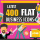 400 Latest Flat Business Icons - GraphicRiver Item for Sale