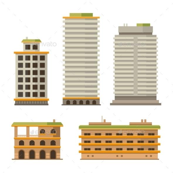 Business Center Buildings Set - Buildings Objects