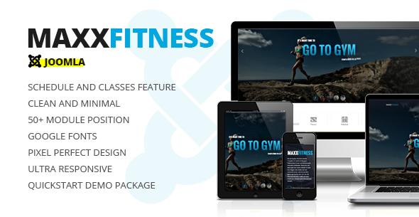Maxx Fitness Responsive Joomla Template - Health & Beauty Retail