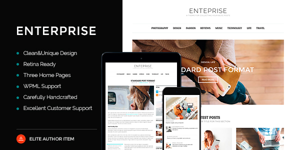 Enterprise – Responsive Magazine, News, Blog Theme