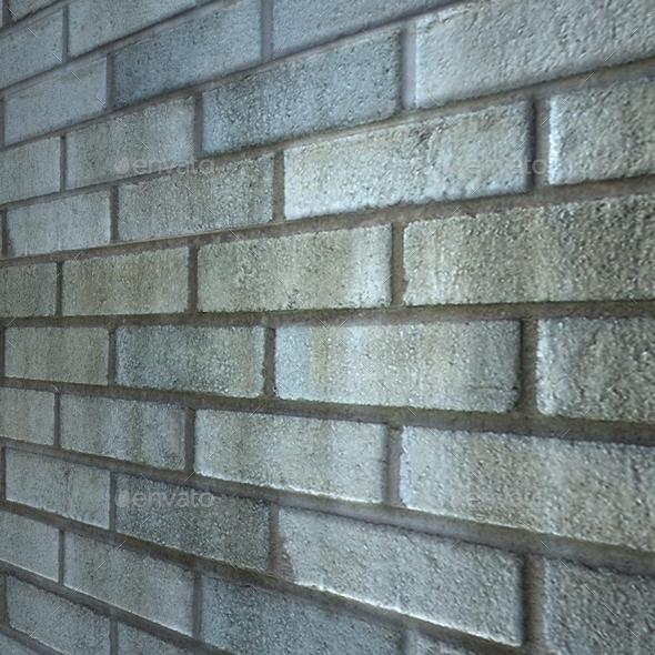 Blue Grey Bricks Seamless Texture