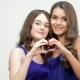 Sisters Showing Heart Shape Gesture - VideoHive Item for Sale