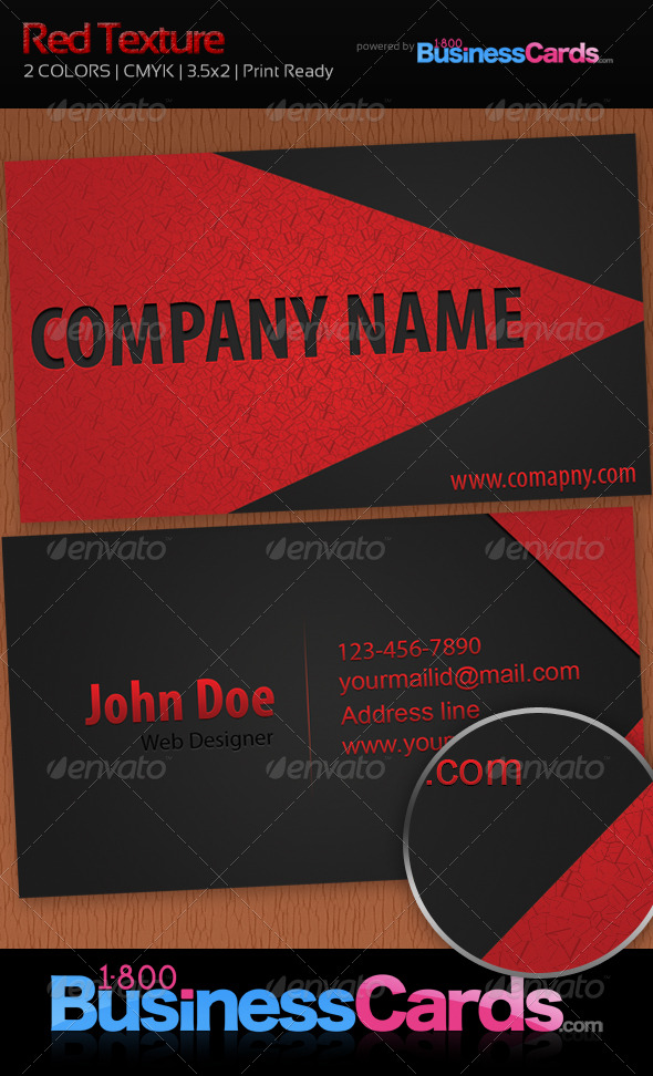 Red Texture Business Card - Creative Business Cards