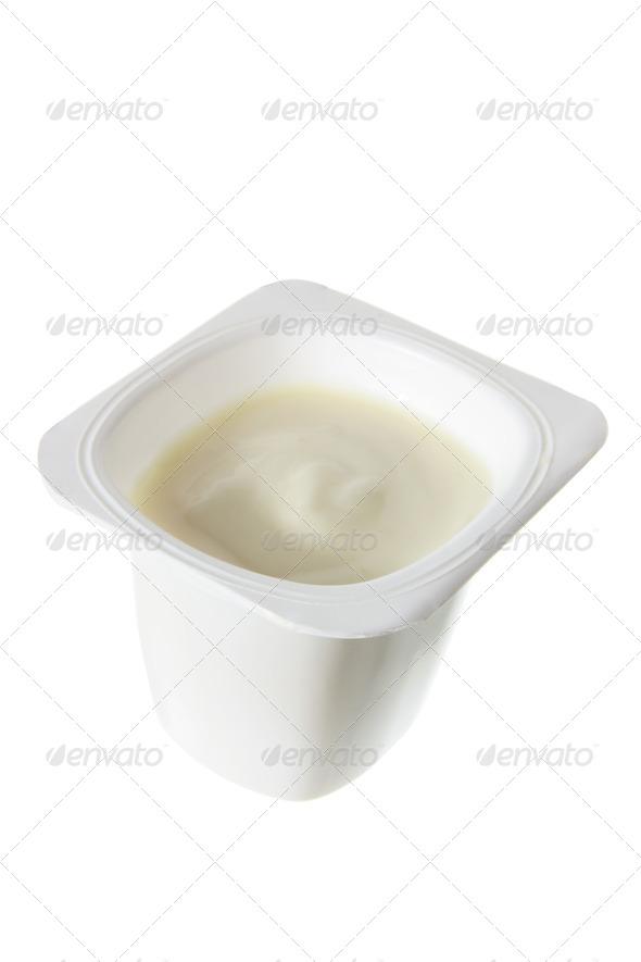 Tub of Yoghurt - Stock Photo - Images
