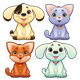 Dogs and cats - GraphicRiver Item for Sale