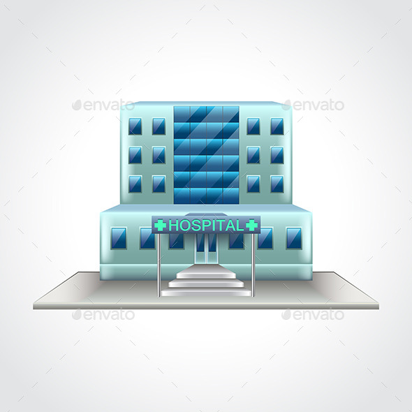 Hospital Building Isolated Vector Illustration - Health/Medicine Conceptual