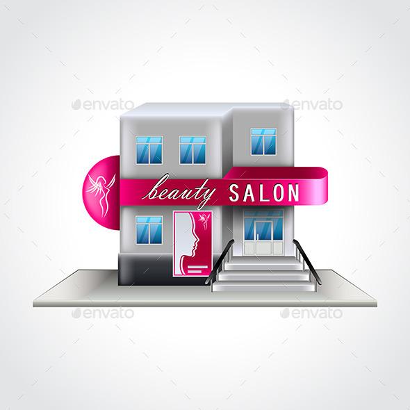 Beauty Salon Building - Health/Medicine Conceptual