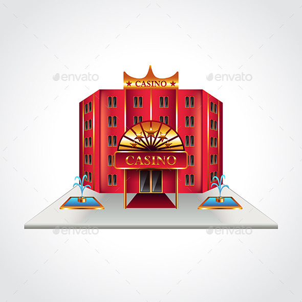 Casino Building Isolated Vector Illustration - Man-made Objects Objects