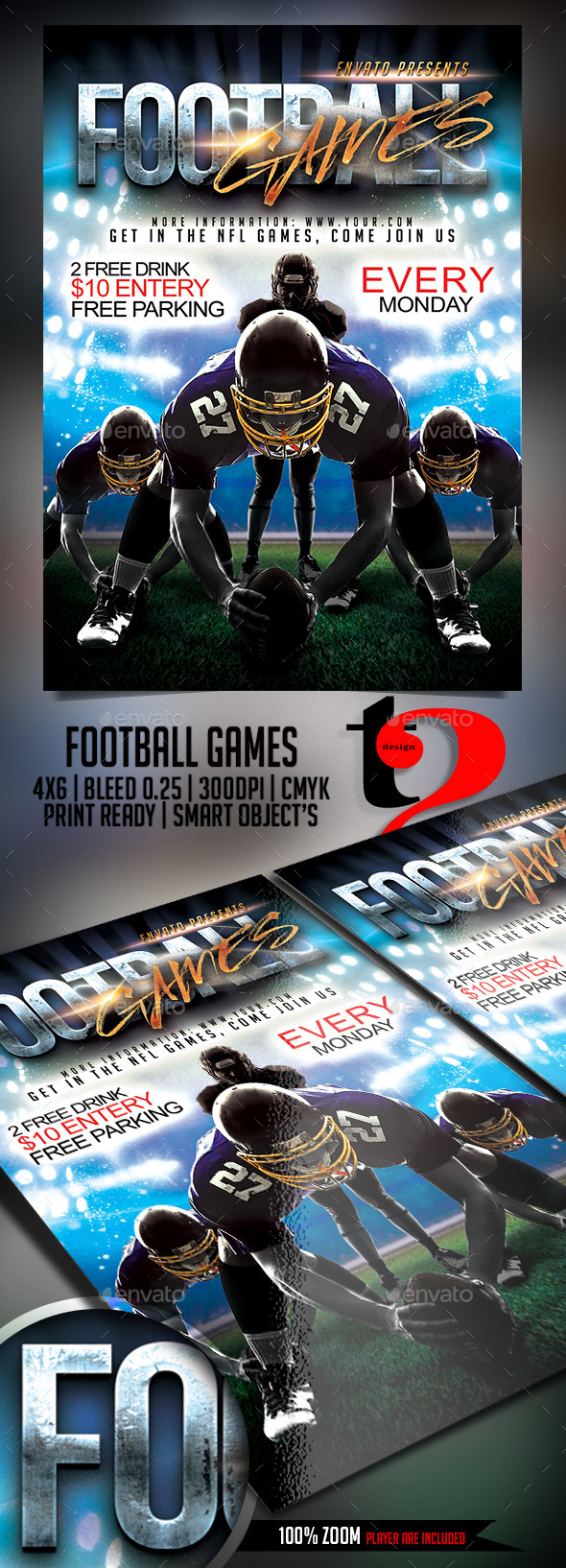Football Game Flyer - Template - Sports Events