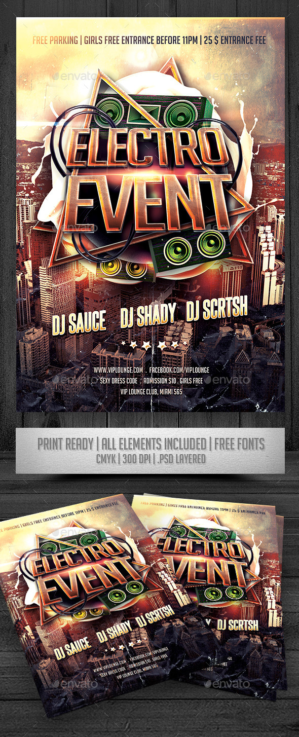 Electro Event Flyer - Events Flyers