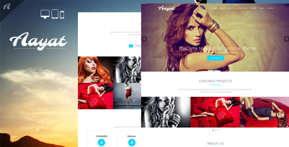 Aayat | One Page Multi-Purpose Parallax Template