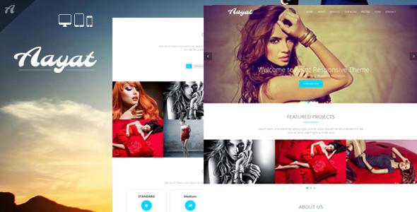 Aayat | One Page Multi-Purpose Parallax Template