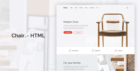Chair – HTML E-Commerce Website Template