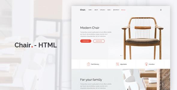 Chair - HTML E-Commerce Website Template