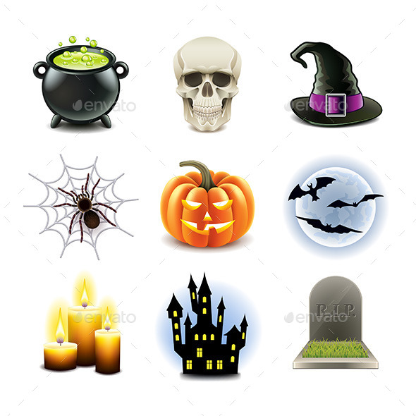 Halloween Icons Set - Halloween Seasons/Holidays