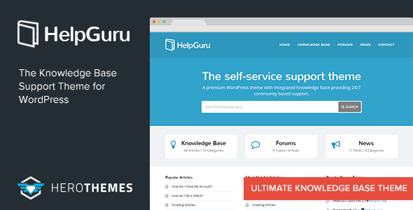 Helpguru A Self Service Knowledge Base Wordpress Theme By Herothemes