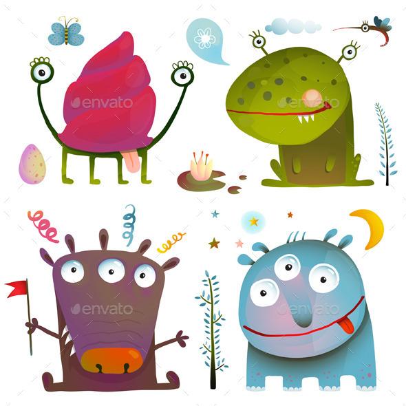 Little Monsters for Kids Design