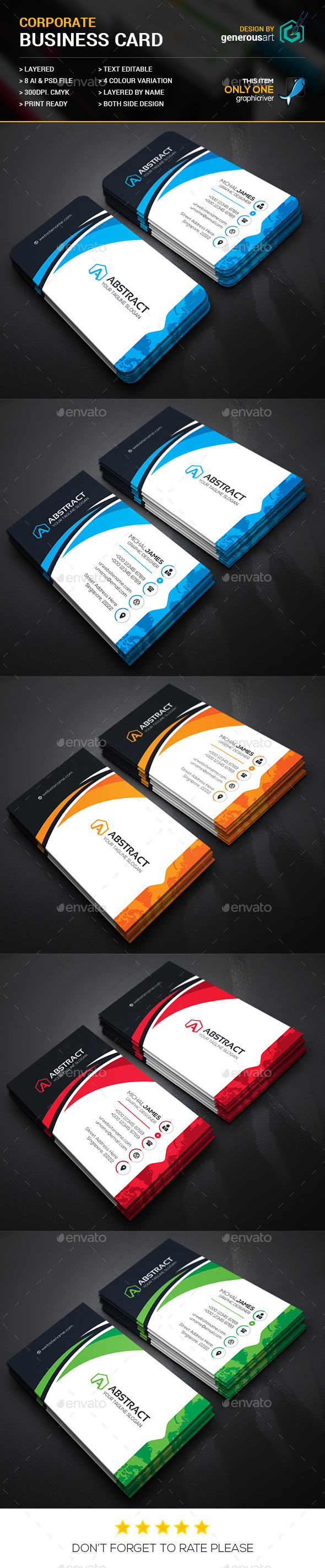 Abstract Corporate Business Cards - Corporate Business Cards