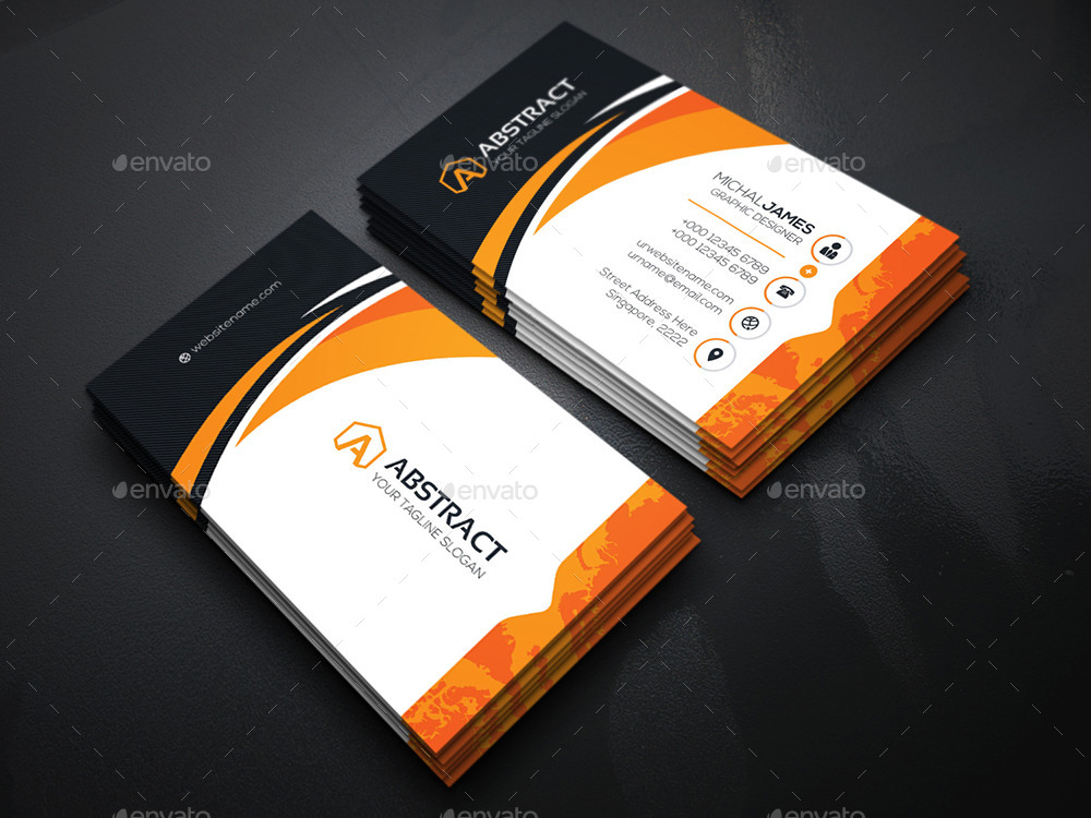 Abstract Corporate Business Cards by generousart | GraphicRiver