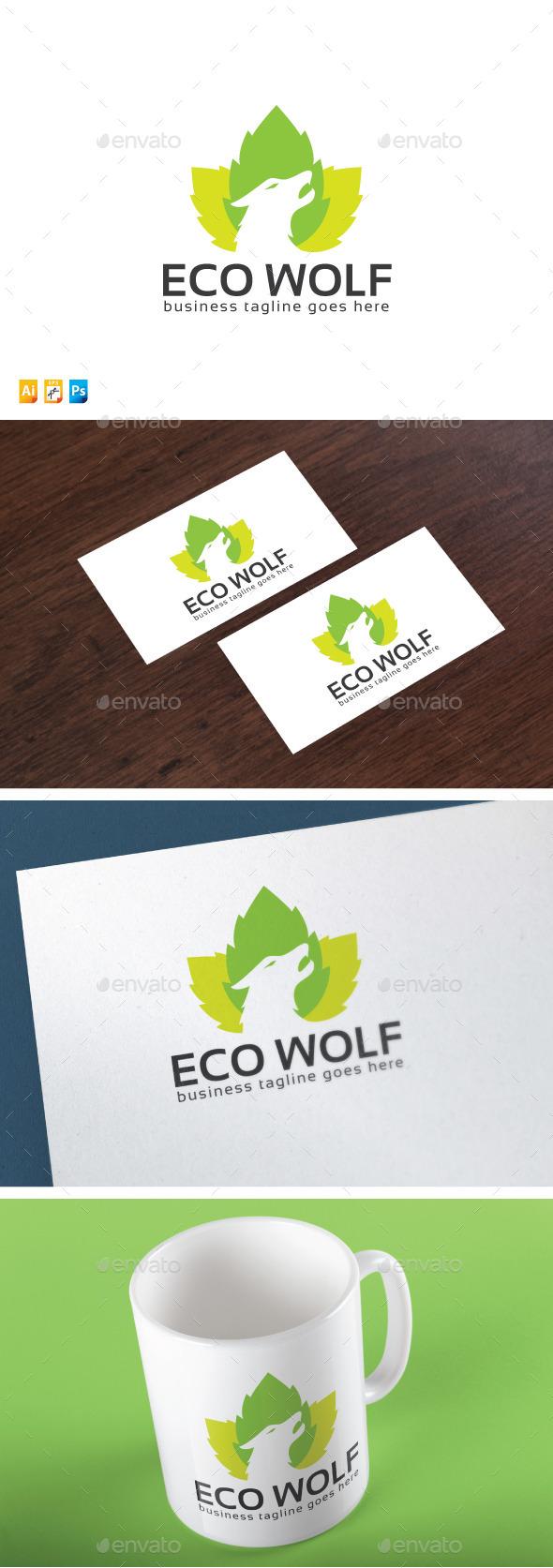 Eco Wolf - Animals Logo Templates