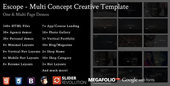 Escope - Multi Concept Creative Template