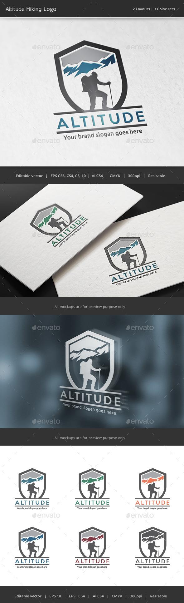 Altitude Trekking Logo - Nature Logo Templates