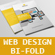 Web Design Bi-Fold Brochure V1 - GraphicRiver Item for Sale