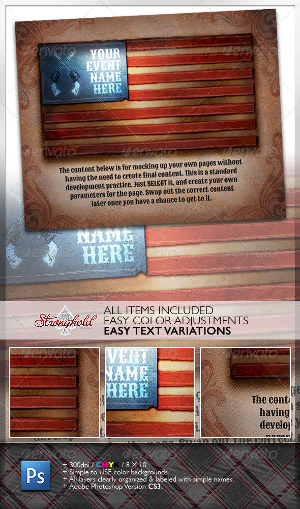 Vintage American Flag - Miscellaneous Backgrounds