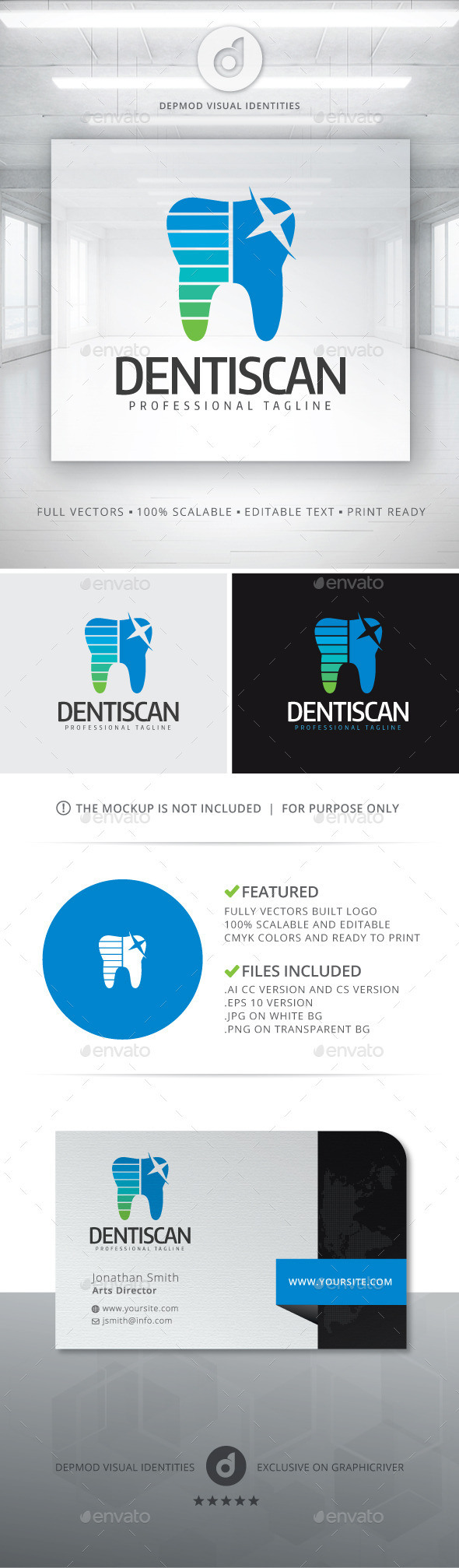 Dentiscan Logo - Objects Logo Templates