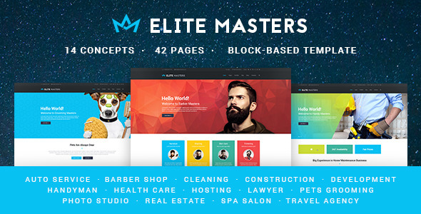 EliteMasters | Multi-Purpose PSD Template