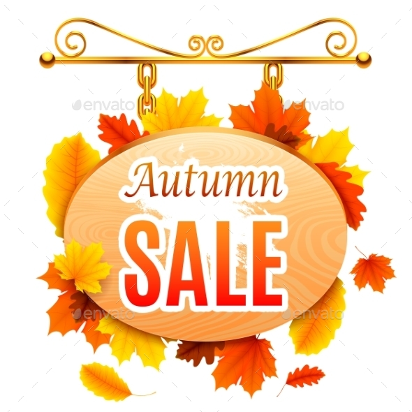 Autumn Sale Signboard - Retail Commercial / Shopping