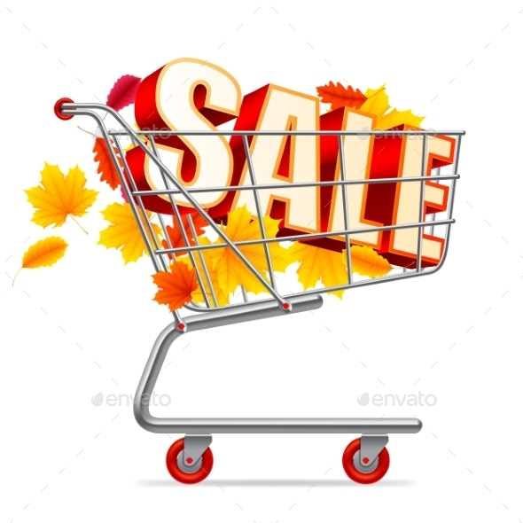 Autumn Sale Shopping Cart - Retail Commercial / Shopping