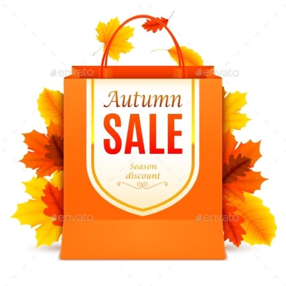Autumn Sale Shopping Bag - Retail Commercial / Shopping