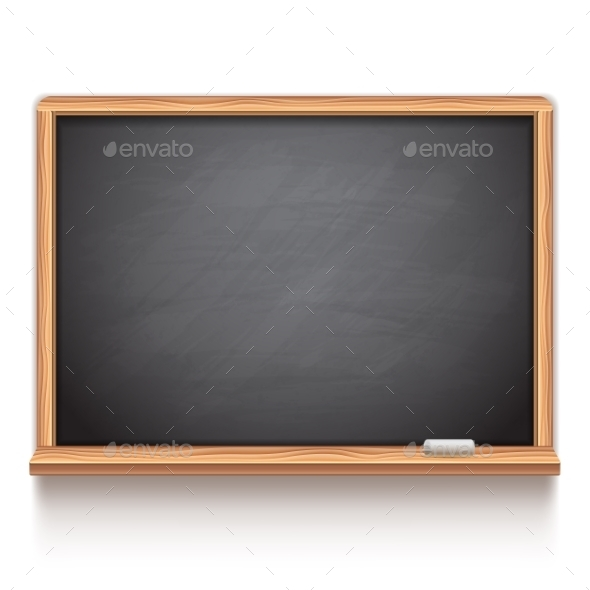 Black School Chalk Board - Objects Vectors
