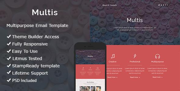 Multis - Responsive Email + Online Builder