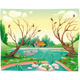 Pond and animals.  - GraphicRiver Item for Sale