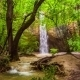 Beautiful Waterfall In Bright Green Forest - VideoHive Item for Sale